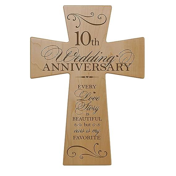 Amazon.com: 10th Aniversario de boda madera de arce pared ...