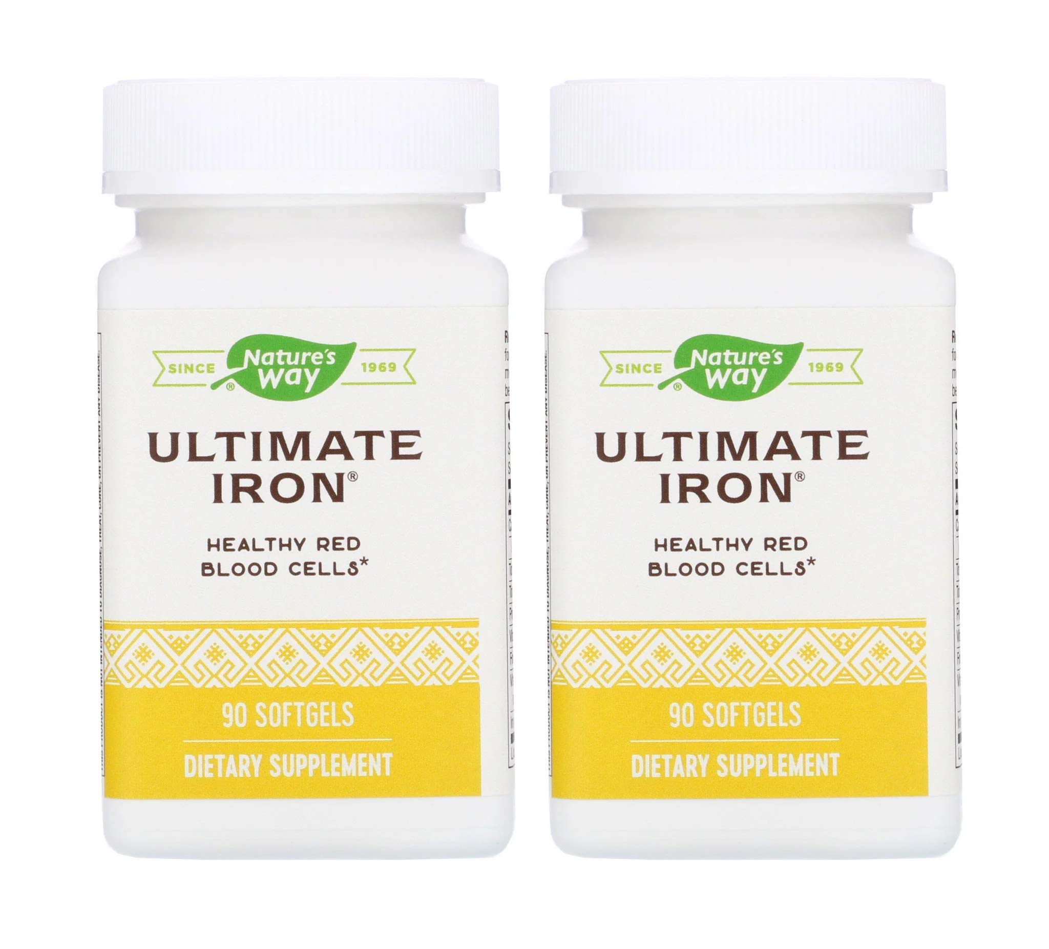 Nature's Way Ultimate Iron Healthy Red Blood Cells (90 Softgels) Pack of 2