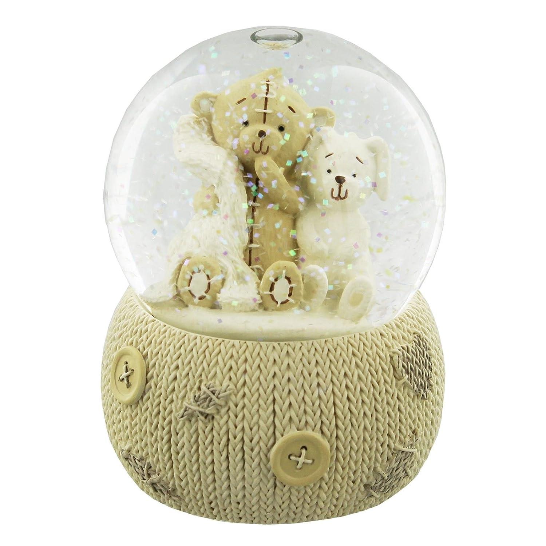 Button Corner Corner Corner Teddybär-Schneekugel in Geschenkbox ea6cea