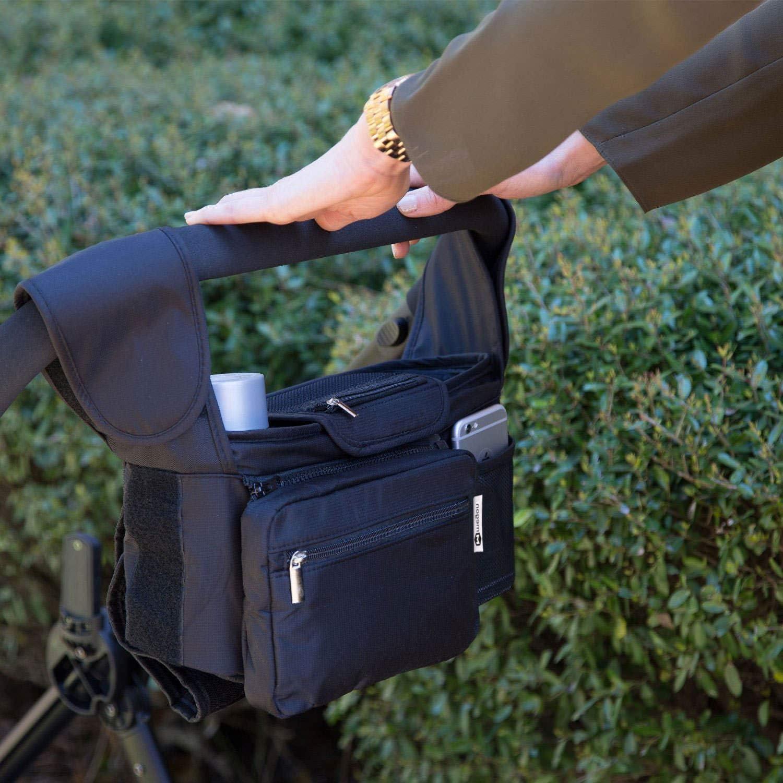 portefeuille sac de poussette couches Organiseur multifonction pour Diono Quantum2 Porte-gobelets porte-cl/és Organiseur portable pour poussette t/él/éphone portable