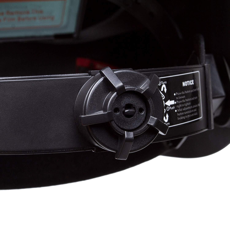 OHMOTOR Auto Darkening Solar Powered Welding Helmet Welders Mask Hood with Adjustable Shade for MIG TIG ARC CE Certification