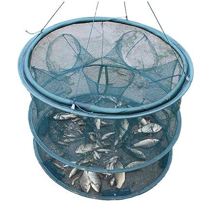 Herramientas de Pesca atrapar jaulas de Peces Redes de Pesca Plegables Redes de Langosta jaulas de