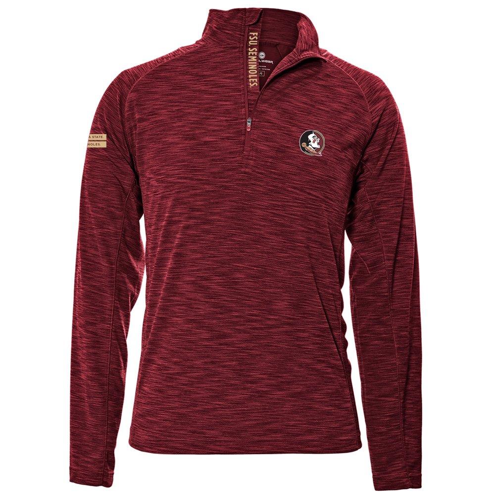 Levelwear LEY9R NCAA クオータージッププルオーバー ストロングスタイル ミッドレイヤー B074PHX5P2 Large|レッド|Florida State Seminoles レッド Large