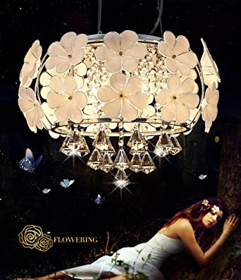 Lampes de lustre en cristal chromé, lampe de verre de double but ...