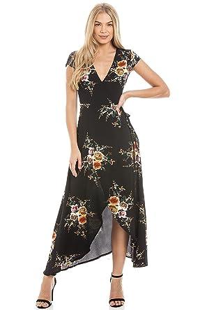 Central Chic Damen Wickel Kleid: : Bekleidung