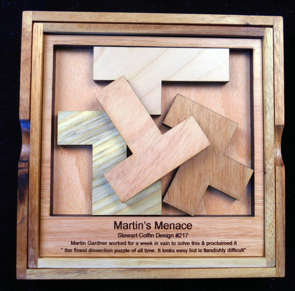Martin's Menace Puzzle – Stewart Coffin Design #217 Four Fit – Shockingly Difficult in a Most Entertaining Way....