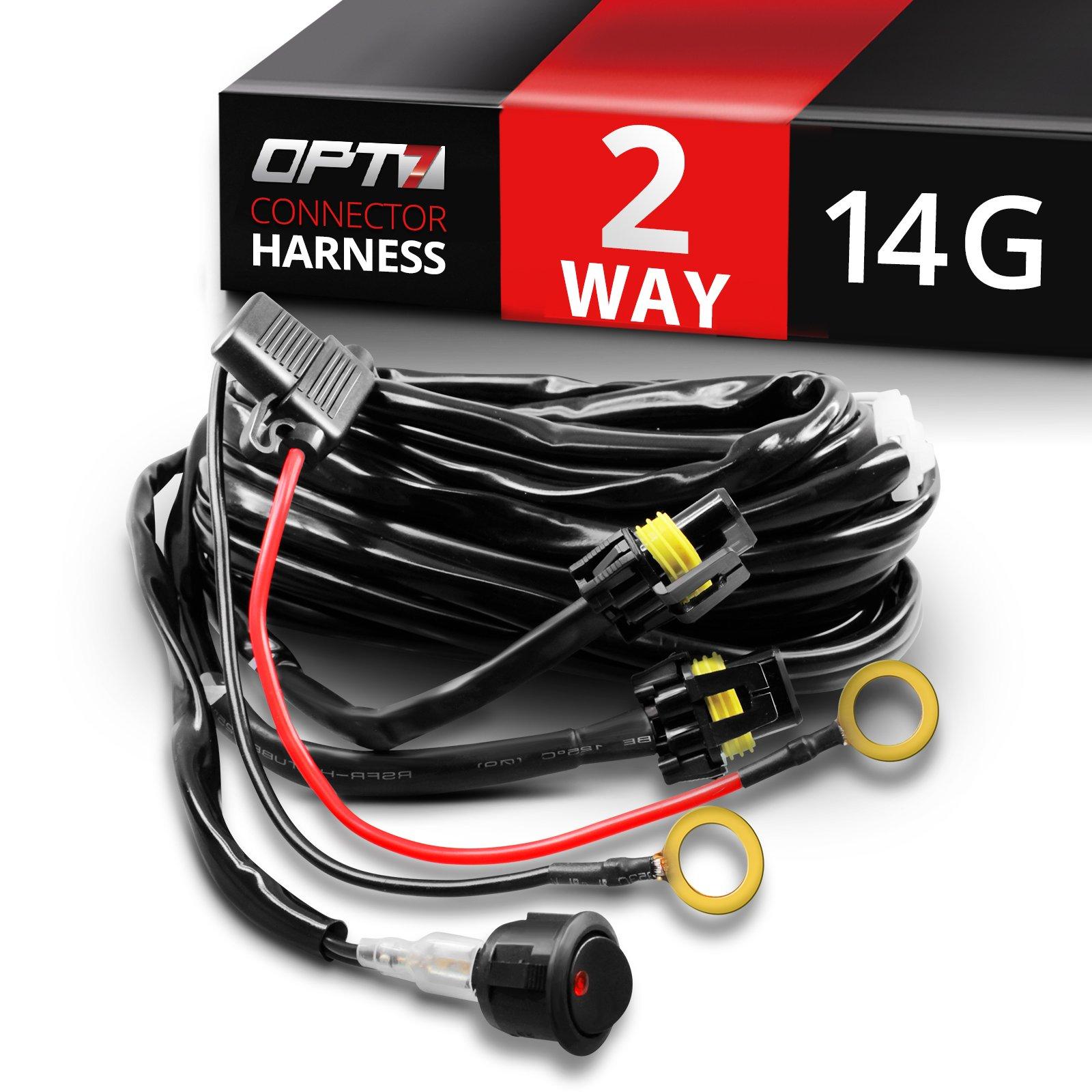 Off Road Lights Wiring Kits Jeep Jk Fog Light Harness Led Plug And Play Kit Amazon Com