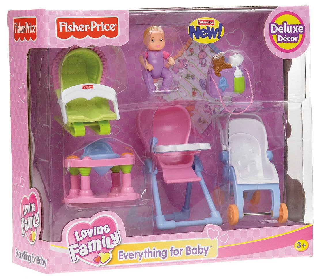 Fisher price doll house furniture - Amazon Com Fisher Price Loving Family Everything For Baby Toys Games