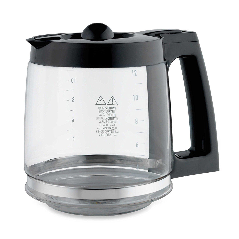 Compare to Part # GL312 Mr Coffee BVMC-SJX33GT /& CG13 /& Many More Hamilton Beach Krups Universal Fit 12 Cup Glass Coffee Carafe Fits Black /& Decker Cuisinart DCC-1200 /& DGB-900BC DeLonghi Melitta