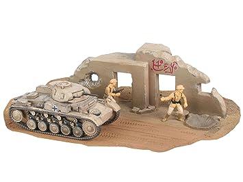 Revell- PzKpfw Maqueta Militar Panzer II Ausf. F, Kit Modelo, Escala 1:76 (03229), Color Negro, Gris (