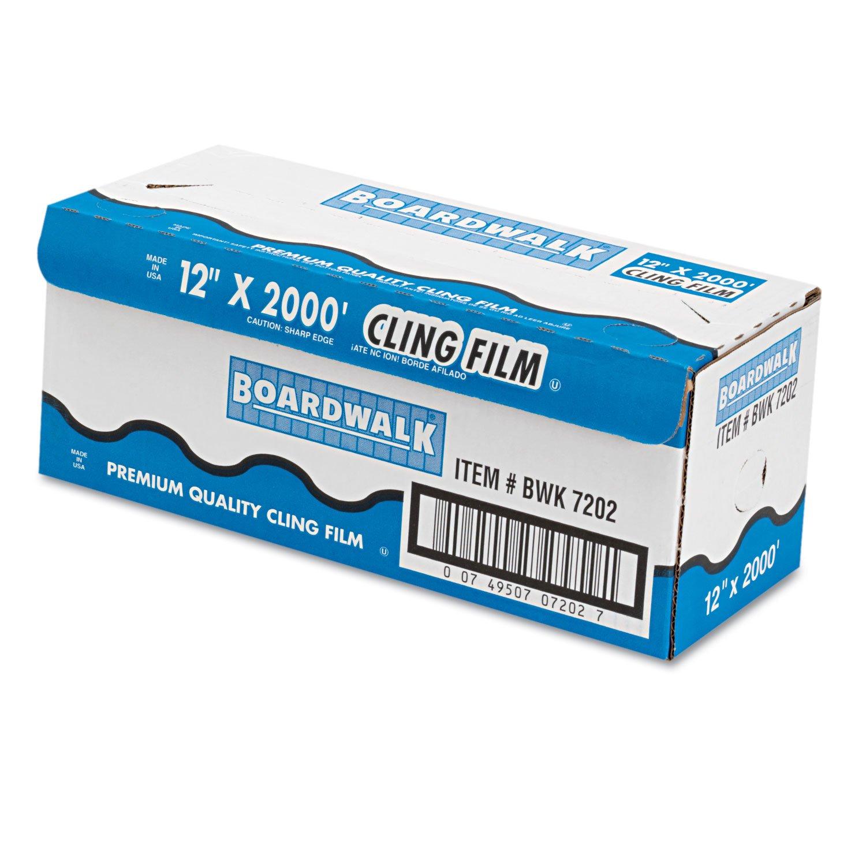 Boardwalk 7202 PVC Food Wrap Film, 12'' x 2000ft Roll by Boardwalk