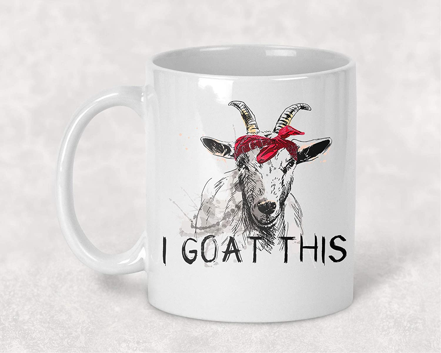 I Goat This Red Bandana Funny Farm Coffee Cup Mug Gift for Her