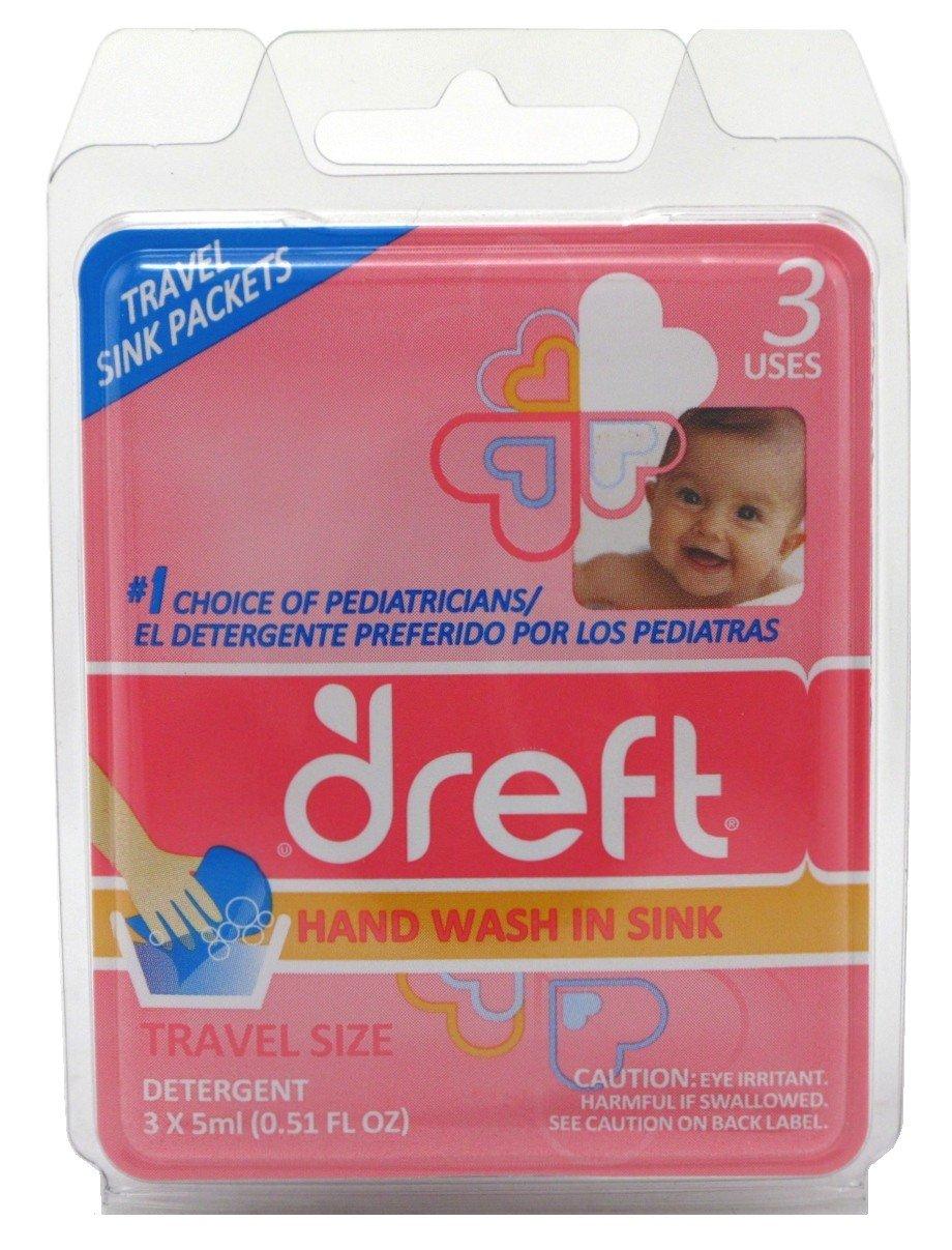 Dreft Detergent Travel Sink Packets 3 Count (4 Pack)