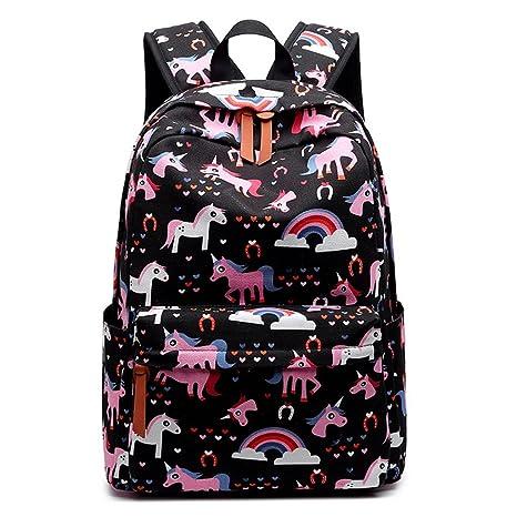 Unicornio Colegio Mochila para niñas,Bolsos escolares para niños Mochila para Adolescentes de Regreso a la Escuela Mochilas Bolsa de Hombro para 14 pulgadas ...
