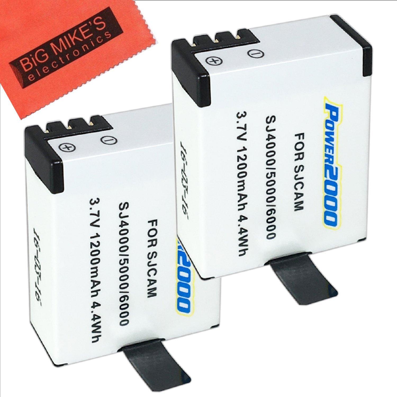 Amazon.com: Pack de 2 baterías para SJCAM SJ4000, SJ5000 ...