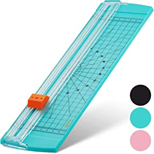 Glone 12 inch Paper Trimmer, A4 Size Paper Cutter with Automatic Security Safeguard for Coupon, Craft Paper and Photo (Green)