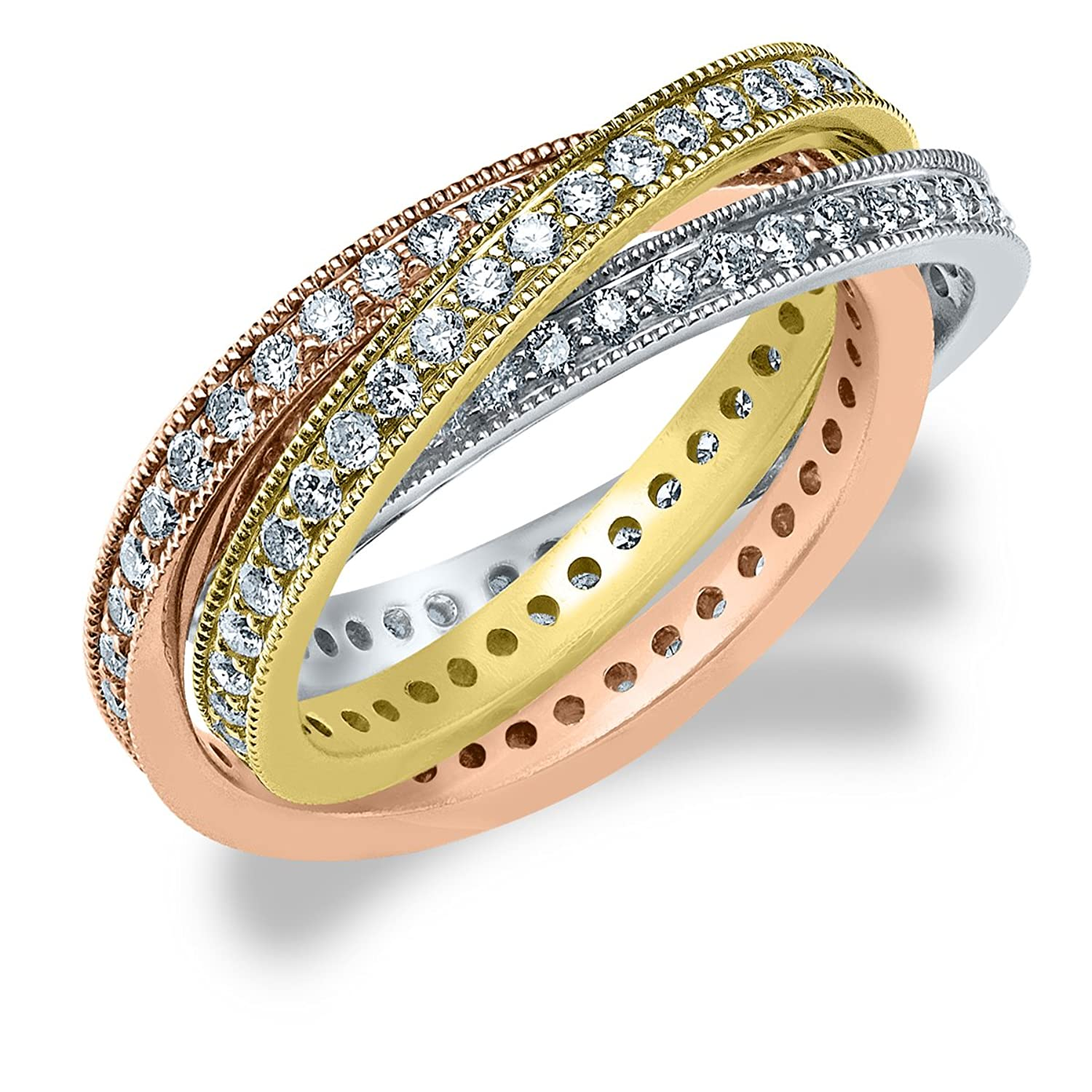 stone twelve eternity gold rings womens diamond band image yellow avanti ring cut princess