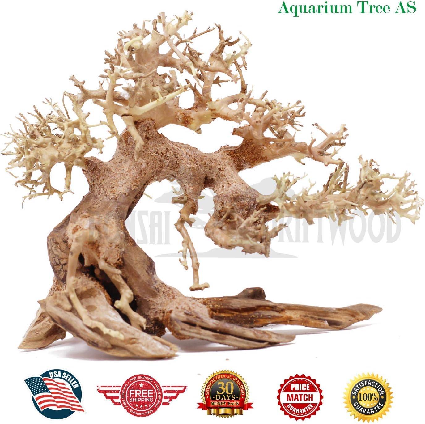 Aqua Bonsai Driftwood Moss Tree for Fish Shrimp Freshwater Nano Planted Tank AC744