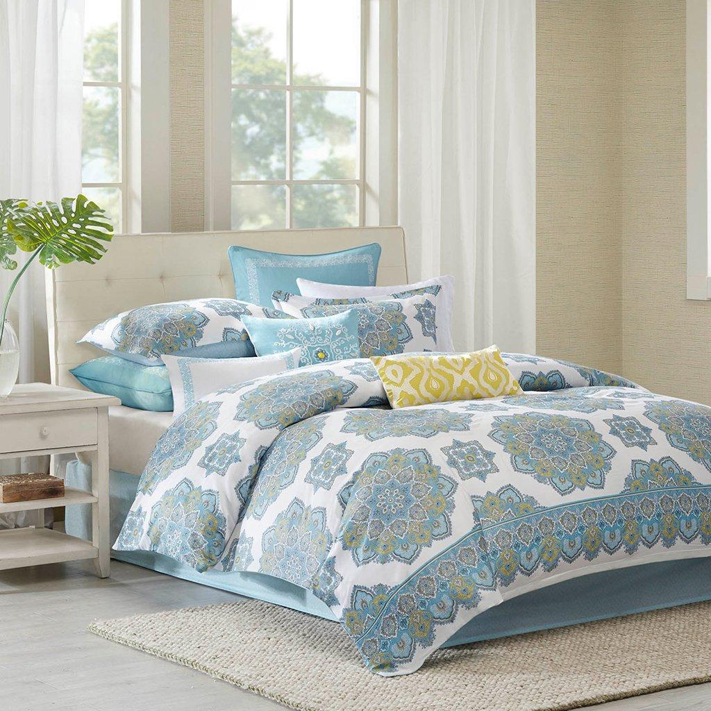 Echo Design Indira Comforter Set, Queen, Aqua durable service
