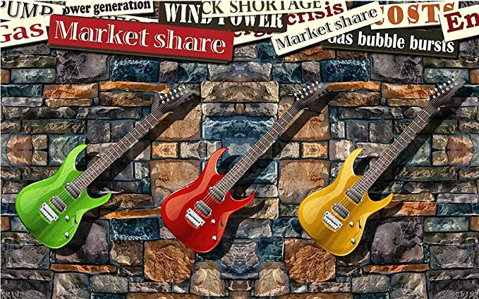 HONGYUANZHANG Hermosa Musica Guitarra Fondo De Pantalla 3D Foto ...