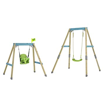TP Toys Forest Acorn Growable Wooden Swing Set With 2 Seats Build ...