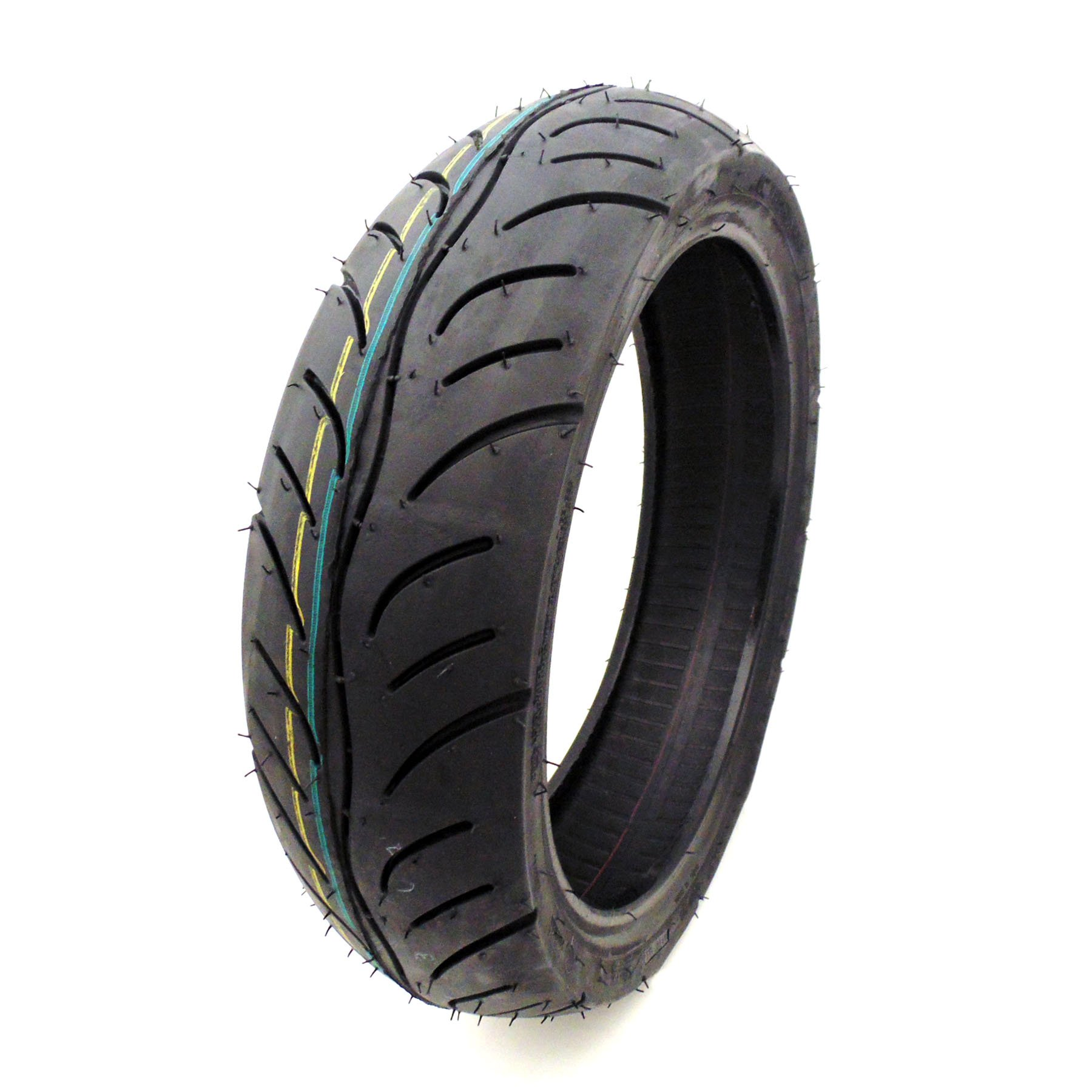 MMG 100/60-12 Tubeless Scooter Tire Front or Rear Street Tread 12 inches Rim Fresh Rubber by MMG