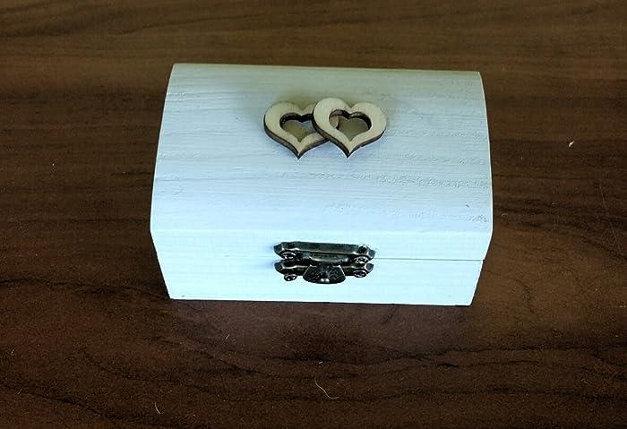 Amazoncom White ring box for ceremony Handmade ring boxWedding