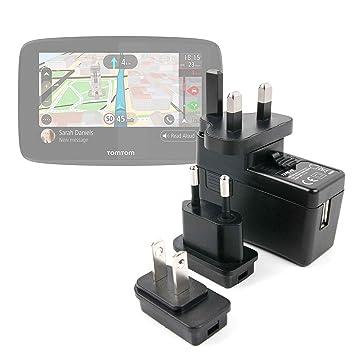 """DURAGADGET Kit De Adaptadores con Cargador para GPS Tomtom GO 520 World 5"""", Awesafe"""