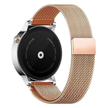 Smartwatch Armband edelstahl schwarz 20mm für Pebble Time Round Large 20mm
