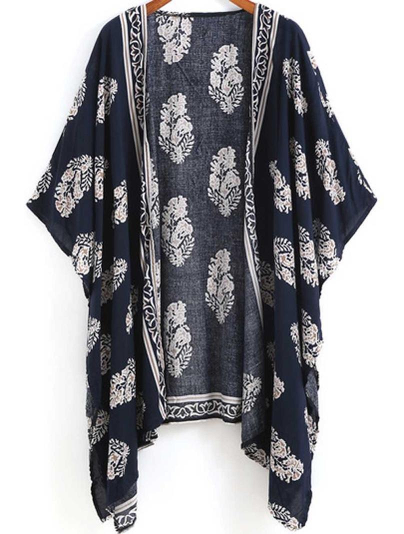 Women Girl Chiffon Kimono Cardigan Coat, Zulmaliu Summer Long Loose Jacket Blouse for Beach, Irregular Long Sleeve Wrap Casual Coverup Tops Outwear (L, 5#) by Zulmaliu-Women Coat (Image #4)