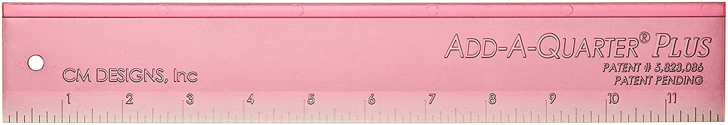 CM Designs CMD10012 Ruler Add-A-Quarter Plus Pink Pack, 12 12