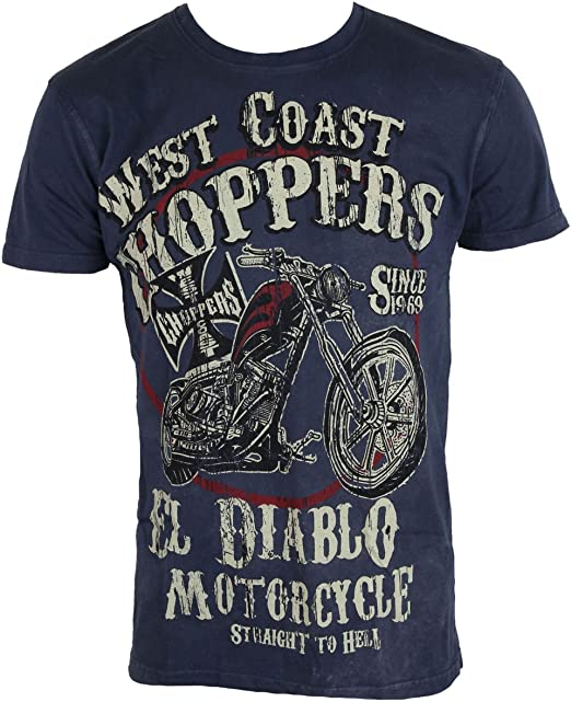 West Coast Choppers t-Shirt Mens WCC EL Diablo WCCTS132621BL