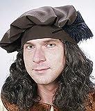 Mütze: Barett, Mittelalter, braun