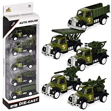 Juguete con Carros Militares Mini Coches de Fricción Vehículos para ...
