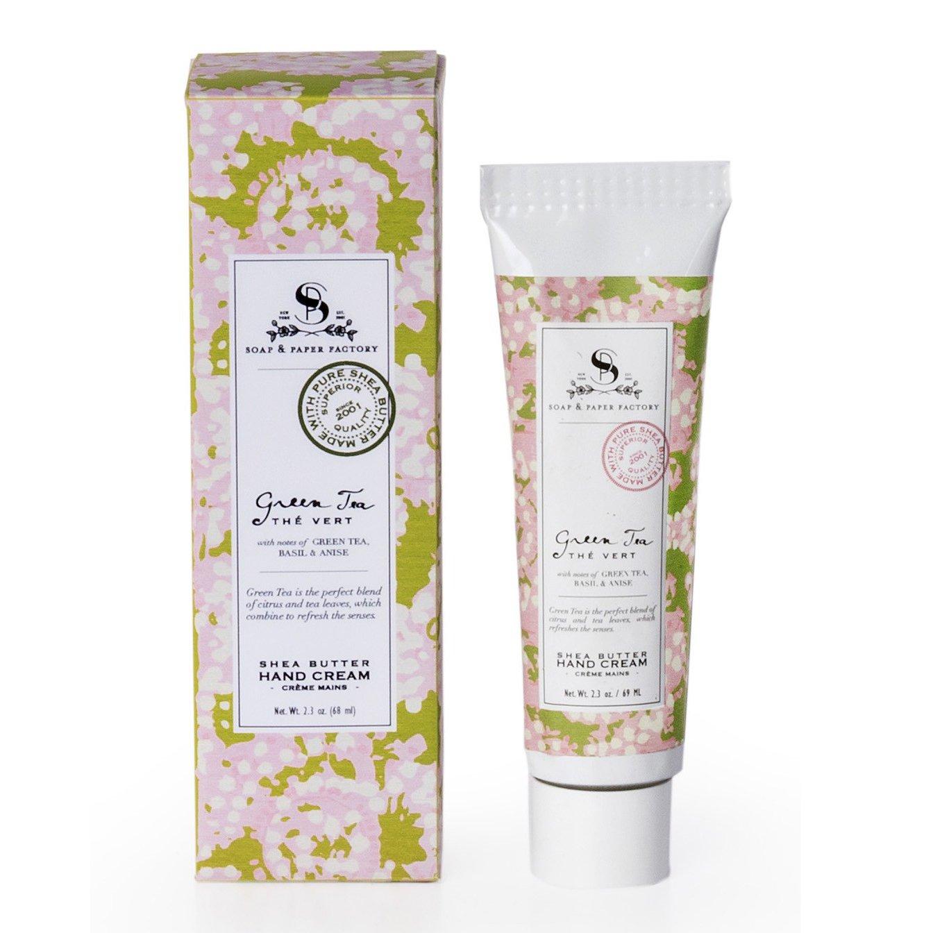 The Soap & Paper Factory Green Tea Shea Butter Hand Cream, 2.3 oz