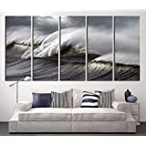 tanda extra large canvas black ocean wave wall art wave on ocean canvas print extra large