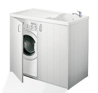 Negrari - 6008s Cubierta móvil y de lavado reversible, resina, blanco, de 109