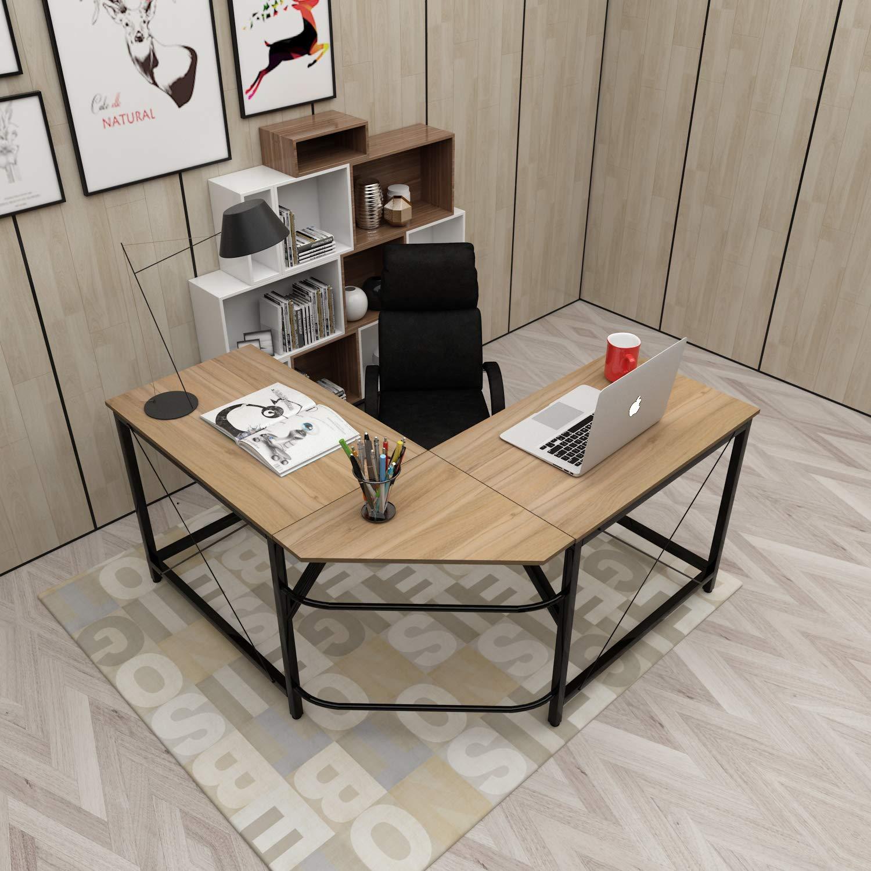 soges - Mesa de Escritorio en Forma de L (150 cm + 150 cm), Color ...
