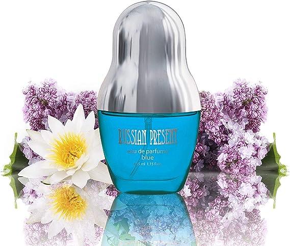 Imagen deEau de Parfum RUSSIAN PRESENT para mujeres y niñas, 35 ml - by SERGIO NERO (BLUE)