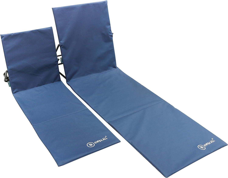 Homecall XXL Beach mat polyester backrest adjustable blue