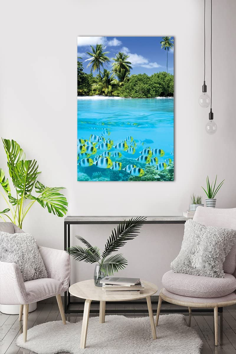 Eurographics 1751-21425 Tropical Scenery II Stretched Canvas 24x36