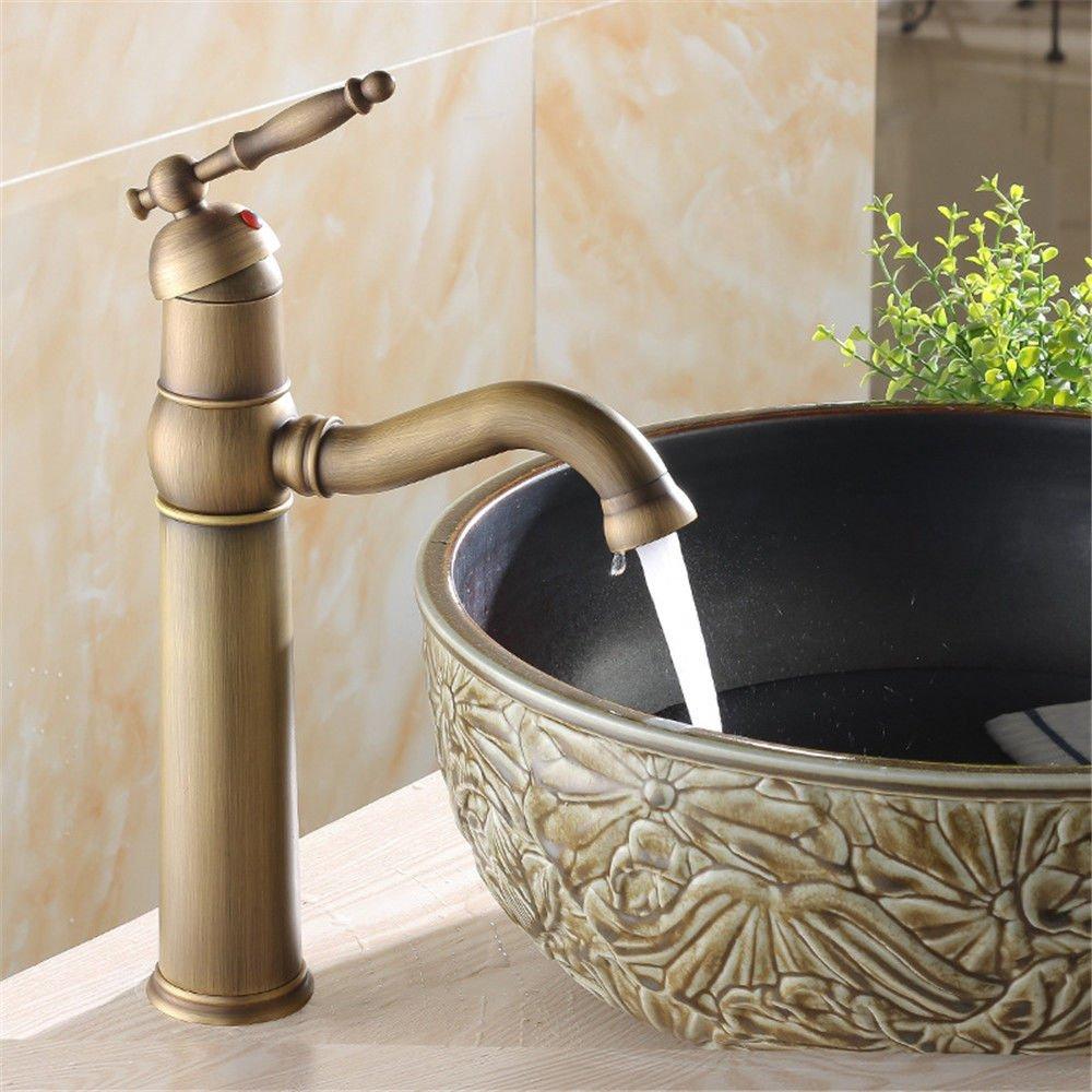 NewBorn Faucet Wasserhähne Warmes und Kaltes Wasser Größe Qualität der Kupfer heiß und Cold-Water Leitungswasser Antike die Schüssel Waschtischmischer zu Drehen.