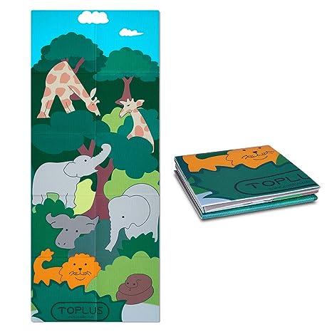 Amazon.com : TOPLUS Kids Yoga Mat - Foldable Exercise Mat ...