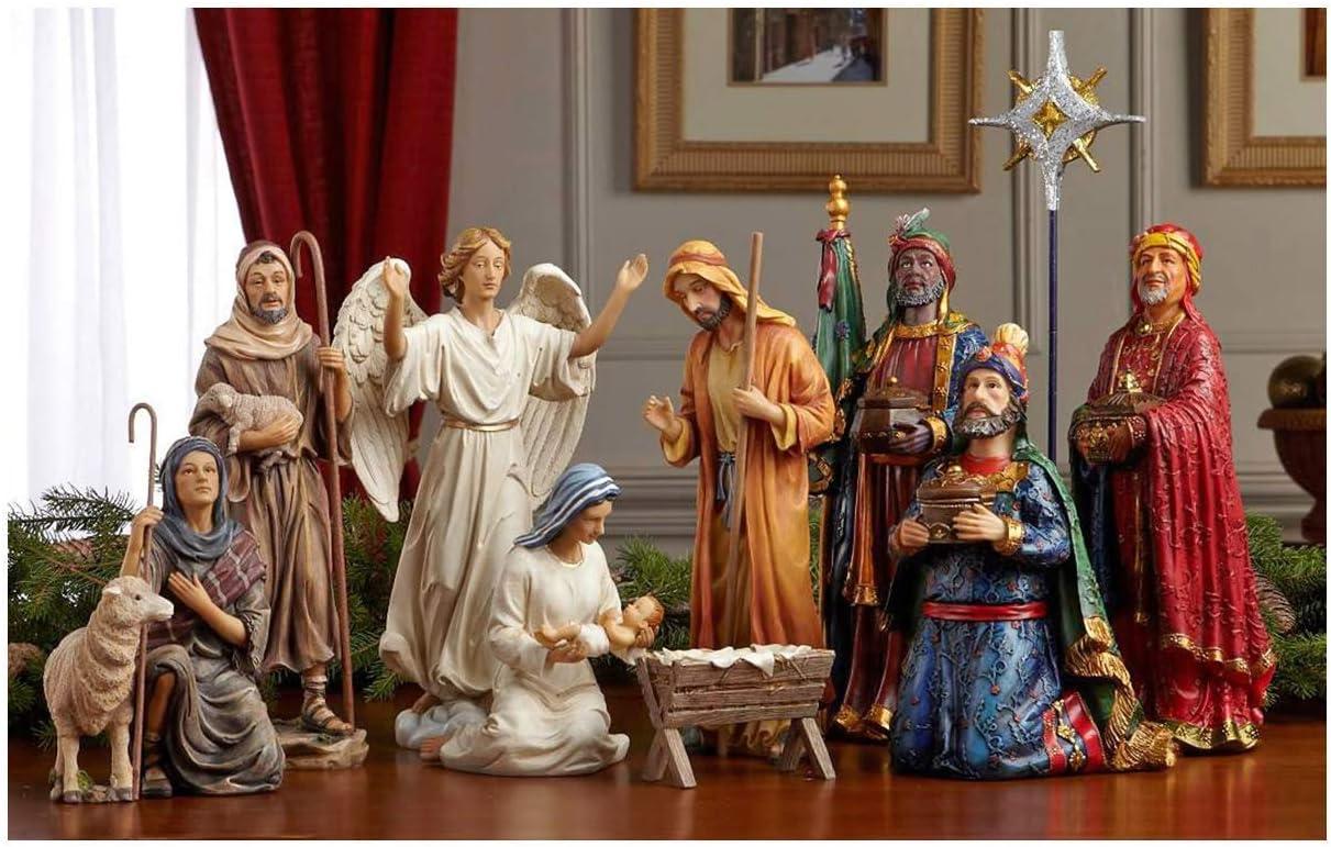 Three Kings Gifts Real Life Christmas Nativity Set , 14 Inch
