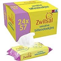Zwitsal Baby Billendoekjes Sensitive (24 x 57 wipes), voor de gevoelige huid, 1368 doekjes - Voordeelverpakking
