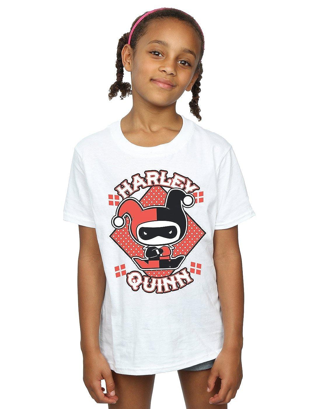 DC Comics Girls Chibi Harley Quinn Badge T-Shirt Absolute Cult