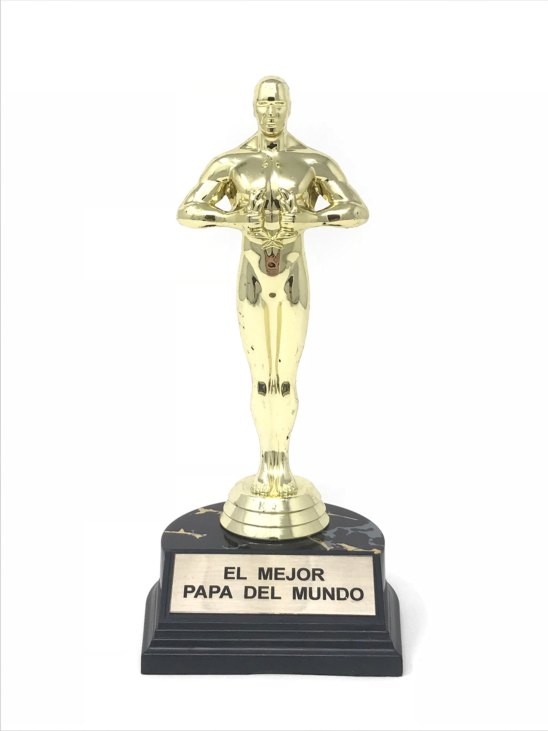 Father's Day El Mejor Papa Del Mundo Trophy Award-7 inches