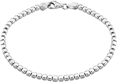 MiaBella 18K Gold Over Sterling Silver Italian 3mm Solid Diamond-Cut Braided Rope Chain Necklace Bracelet for Men Women 925 Italy 7 to 30 Inch