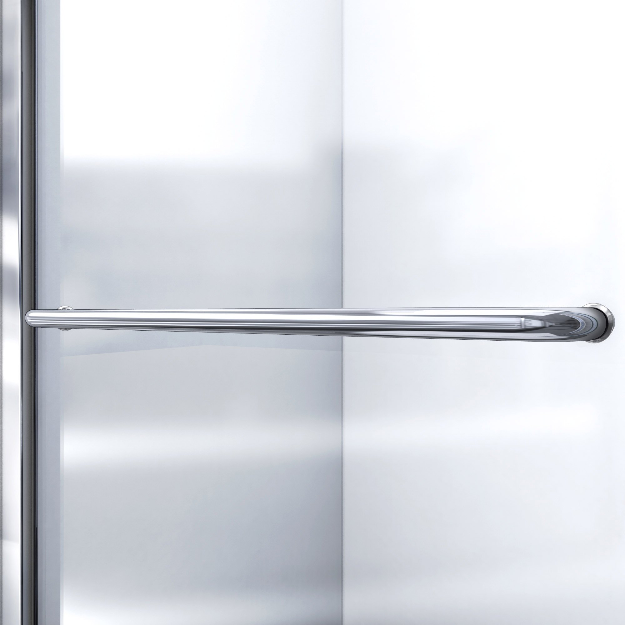 DreamLine Infinity-Z 50-54 in. W x 72 in. H Semi-Frameless Sliding Shower Door, Clear Glass in Brushed Nickel, SHDR-0954720-04 by DreamLine (Image #5)