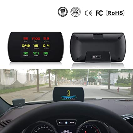 Car HUD 5.8 OBDII Head Up Display Digital Car Velocímetro a bordo ...